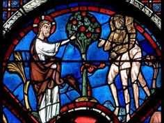 Tuesday, we're talking about the oldest relationship in the Christian world: Adam and Eve. The writer Bruce Feiler says the two don't get the credit they Stained Glass Church, Stained Glass Angel, Stained Glass Windows, French Gothic Architecture, French Cathedrals, First Love Story, Art Through The Ages, Christian World, Church Windows
