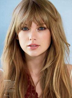 Loving these dark blonde locks and wispy bangs that slay!!