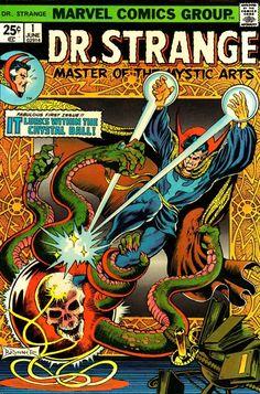 Dr. Strange from 1974, Frank Brunner cover art.