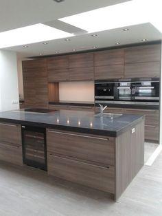 Kitchen Pantry Design, Luxury Kitchen Design, Contemporary Kitchen Design, Home Decor Kitchen, Interior Design Kitchen, Open Plan Kitchen Living Room, Kitchen Modular, Modern Kitchen Interiors, Cuisines Design