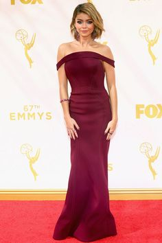 2015 Emmy Awards: Red Carpet Arrivals.  Sarah Hyland, Modern Family.
