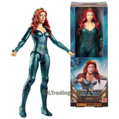 DC Comics Year 2018 Aquaman Series 12 Inch Tall Figure - MERA with 11 Points of Articulation Justice League Action Figures, Dc Action Figures, Dc Comics Collection, Gotham City, Worlds Of Fun, Catwoman, Captain Marvel, Supergirl, Superman