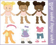 Free paperdolls printable...now I just have to wait for my daughter to stop eating paper so I can print these for she and I to play with!