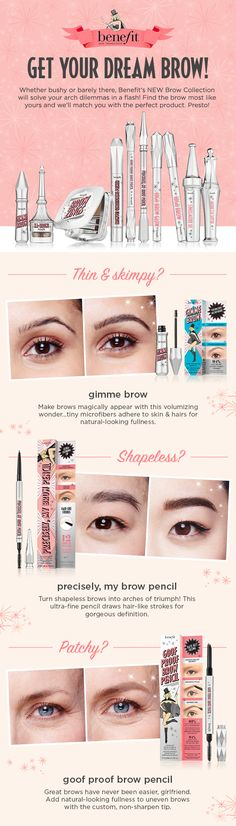 Find instant solutions to your arch dilemma! Quick and easy, wow your brows in a few easy steps.