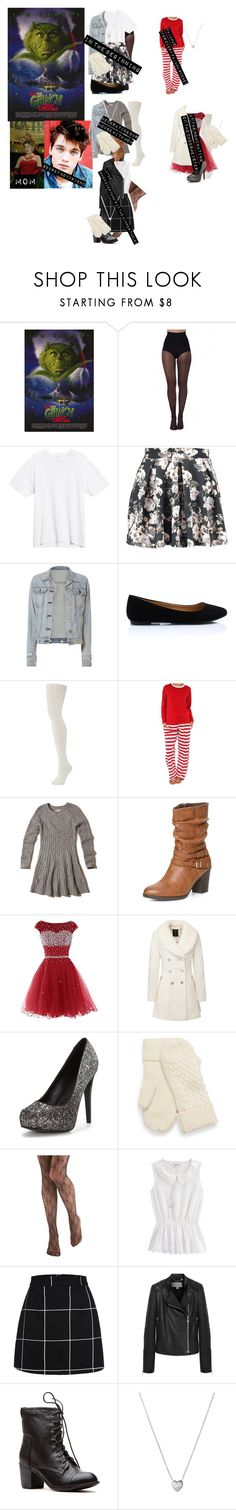 """Me in: 'how the grinch stole Christmas'"" by j-j-fandoms ❤ liked on Polyvore featuring Pretty Polly, Boohoo, rag & bone, Hollister Co., Dorothy Perkins, Mulberry and Links of London"