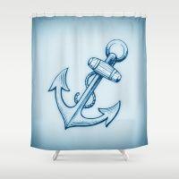 Nautical Anchor 2 Shower Curtain