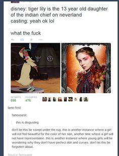 Honestly this is fucking disgusting! For the love of all that is holy cast a damn girl that actually is the race of the character they are playing!
