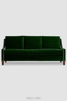 The sweet, elegant, lovely Gracie, in armchair and sofa configurations. // so pretty in green velvet