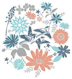 Summer Inspired Floral Vector Prints - illustrations Jitesh Patel
