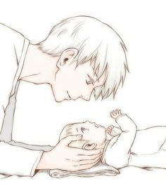 OMG SUCH CUTENESS AAAAAH X3 Big Bro Prussia and Baby Germany                                                                                                                                                                                 More