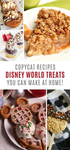 Copycat Disney World Treats {To remind you of your vacation!} These copycat Disney World treats are so easy to make! Disney Themed Food, Disney Inspired Food, Disney World Food, Disney Desserts, Disney Recipes, Disney Parks, Disney Dinner, Disney Cookies, Food Themes