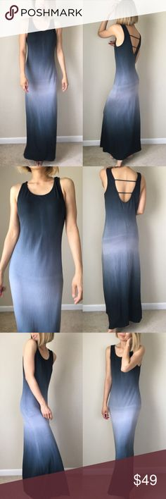 """✳️Ombre maxi Slip dress.Sexy LOW BACK. MADE IN USA Midnight sky maxi dress.ombre midnight sky long dress maxi fit. Length: 55"""", bus: 18"""" w;15"""" stretchable . 95%rayon 5%spandex made in USA. Soft material. ❤️❤️❤❤️️👉🏼Follow me on  📸INSTAGRAM: @chic_bomb  and 💁🏻📘FACEBOOK: @thechicbomb❤️❤️❤️❤️ Dresses Maxi"""