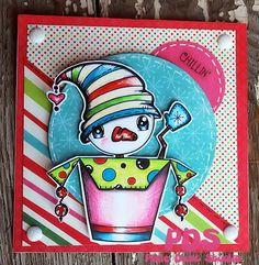 Pop Up Snowman..Pixie Dust Studio Digital Stamp!!