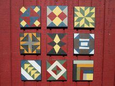 Barn Quilt, Civil War Barn Quilt, 9 Painted Barn Quilt Squares, Barn Quilt Squares