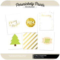 Document your Holidays with these free 3x4 journal and filler cards.