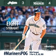 Seager goes 3-for-4, #Mariners rally to top #Indians 4-3 and #KeepStreaking 7/23/13