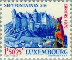 Sello: Castle Septfontaines (Luxemburgo) (Castles) Mi:LU 815,Yt:LU 765