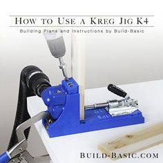 How to Use a Kreg Jig K4 by @BuildBasic - www.build-basic.com
