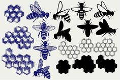 Bees and honey SVG b