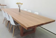 Design hand crafted solid timber dining tables for your home by Time 4 Timber Pty Ltd experts! 12 Person Dining Table, Large Dining Room Table, Timber Dining Table, Diy Dining Table, Dining Table Design, Table Seating, Kitchen Dining, Farmhouse Style Table, Beautiful Kitchens