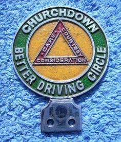 1960s CHURCHDOWN CAR CLUB - OLD GLOUCESTER - BETTER DRIVING CIRCLE
