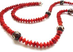 Indian ethnic Bollywood fashion jewelry traditional long red beaded necklace set #HerbalJewellry
