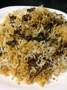 Hyderabadi Mutton Biryani Recipe is one of my most favorite mutton biryani recipes which is a dum method and I love making mutton dum biryani all the time. Afghan Food Recipes, Veg Recipes, Indian Food Recipes, Cooking Recipes, Healthy Recipes, Arabic Recipes, Cooking Tips, Lamb Biryani Recipes, Rice