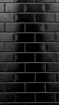 trendy wallpaper whatsapp preto e branco Black Brick Wallpaper, Black Wallpaper Iphone, Dark Wallpaper, Tumblr Wallpaper, Cellphone Wallpaper, Trendy Wallpaper, Homescreen Wallpaper, Black Backgrounds, Wallpaper Backgrounds