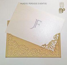 Lançamento Nova Colecção Convites 2015 by Mundos Perdidos Eventos Convite Gold Romantic- MP Eventos