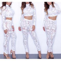 Factory hot selling women sexy jumpsuit white lace jumpsuit full length elegant jumpsuit bodysuit women 9098