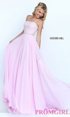Long Strapless Prom Dress by Sherri Hill at PromGirl.com