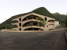 Schoolhouse in Grono, Switzerland; Raphael Zuber, architect