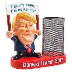 Dump Trump Pencil Pen Mesh Holder Desk Office Supplies Organizer Collection --I Don't Care, I'm Really Rich
