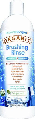 Essential Oxygen Organic Brushing Rinse Peppermint -- 16 fl oz - Vitacost