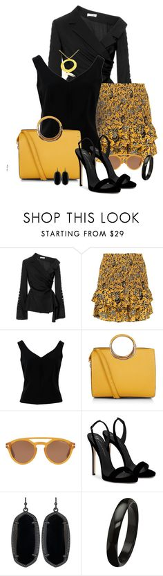 """The Round"" by ana-kreb ❤ liked on Polyvore featuring Adeam, Étoile Isabel Marant, ADAM, Tom Ford, Giuseppe Zanotti and Kendra Scott"