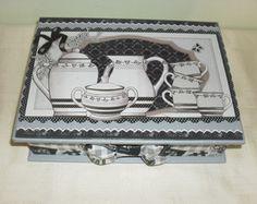 Caixa de chá Mdf - 1 - Decoupage