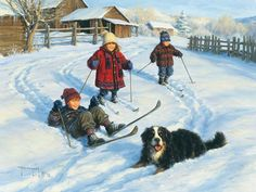Robert Duncan Prints Gallery Direct Art is your Fine Art Gallery for Robert Duncan Prints Questions? Please call - Robert Duncan Gallery Snow Scenes, Winter Scenes, Robert Duncan Art, Igor Levashov, My Champion, Images Vintage, Poster Prints, Art Prints, Country Art