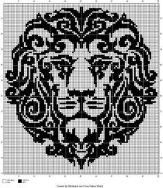 Lion cross stitch.