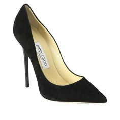 Jimmy Choo Anouk Suede Pumps (36.870 RUB) ❤ liked on Polyvore featuring shoes, pumps, black, black suede pumps, suede pointed-toe pumps, pointed shoes, black suede shoes and black shoes