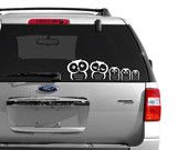 owl family car decals want something like this thats different from the normal stick people for my burbby Family Car Decals, Family Stickers, Car Stickers, Stick Family, Owl Family, Owl Always Love You, Car Window Decals, Stick Figures, Cute Owl