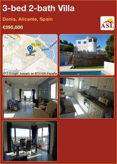 3-bed 2-bath Villa in Denia, Alicante, Spain ►€395,000 #PropertyForSaleInSpain