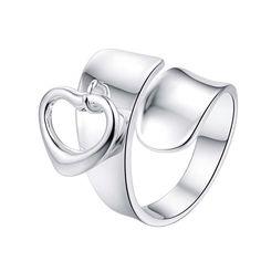7017ef1cfe42 Amor corazón fresco ajustable para los hombres Al Por Mayor 925 joyas de  plata de anillo