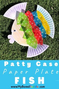 Paper plates and patty cases really are such versatile craft resources. To celebrate them both, we created these super cute Patty Case Paper Plate Fish! Fun crafts do not need to be complicated and these fish are certainly proof of that. The bright colors of the patty cases and personal touch added to the design by their creator, really makes these paper plate crafts something special. #myboredtoddler #toddlercrafts #toddleractivities #art #paperplatecrafts
