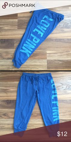 Victoria Secret PINK Sweats Victoria secret pink cropped sweats. Please feel free to ask any questions or make an offer, and as always THANK YOU for shopping my posh closet! Xoxo -Tish PINK Victoria's Secret Pants Capris