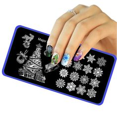 Christmas DIY Nail Art Image Stamp Stamping Plates Manicure Template