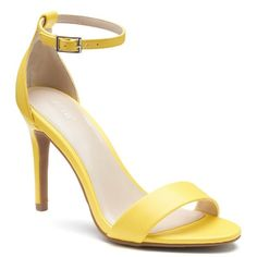 With an open toe design and chic buckle closure, you'll spice up your look in these charming high heel sandals from Apt. High Heel Pumps, Women's Pumps, Stiletto Heels, Shoes Heels, Open Toe Shoes, Open Toe Sandals, Ankle Strap Sandals, Heeled Sandals, Yellow Sandals