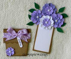 Purple Get Well Soon Flower Pot Card