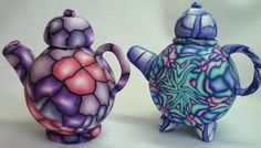 Beadazzle Me Polymer Jewelry: Tea for Two- Polymer Clay Teapots