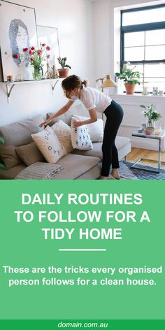 Do yourself a favour, and adopt these clever daily cleaning tricks so you never have to spend precious weekend hours tidying up. Daily Cleaning, Cleaning Hacks, Home Organisation, Organizing Your Home, Organising, Home Management, Love Your Home, Tidy Up, Home Hacks