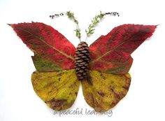 Moth leaves photo. Fall colors wall art. e2070 by APeacefulLeaf, $25.00
